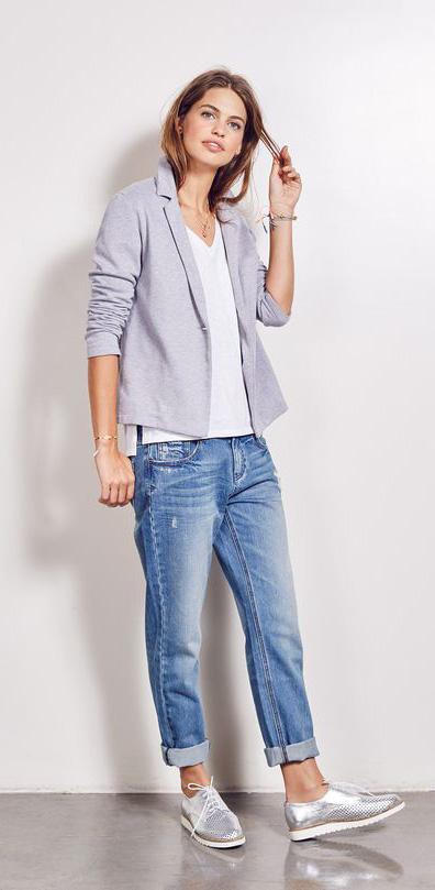 Un jean boyfriend, une veste de costume (souple ou plus sculptée, à vous de  voir ce que vous préférez) et un t-shirt. le must   on aurait presque pas  besoin ... ca18dac96656