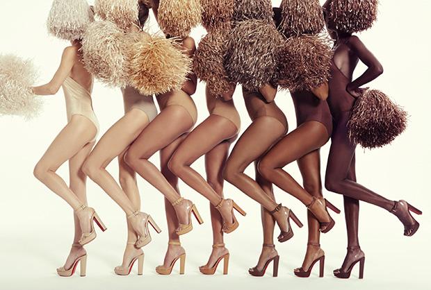 Les 7 couleurs de nude par Christian Louboutin (photo Sofia et Mauro)